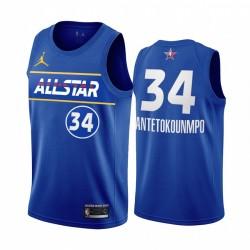 2021 All-Star Giannis AntetokounMPO Trikot Blue Eastern Conference Bucks Uniform
