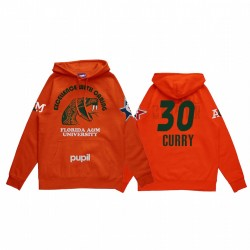 Stephen Curry 2021 NBA All-Star-Spiel X HBCU-Sammlung Florida A & M-Universität Schüler Orange Hoodie Mantra Pullover