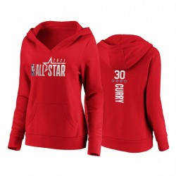 2021 All-Star Stephen Curry Westliche Starter Frauen Krieger Rot Hoodie