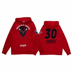 Stephen Curry 2021 NBA All-Star-Spiel X HBCU-Sammlung Howard Universität Schüler Rot Hoodie Mantra Pullover
