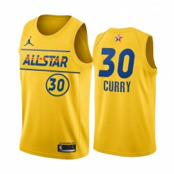 2021 All-Star & 30 Stephen Curry Gold Western Conference Trikot Warriors