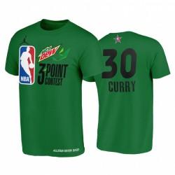 Stephen Curry Mtn Dew 3-Punkt 2021 All-Star Western Green Warriors T-Stück