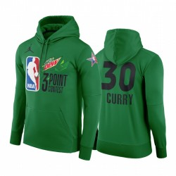 2021 All-Star Western Stephen Curry & 30 Mtn Dew 3-Punkt-Pullover Grüner Hoodie