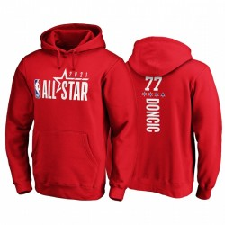 2021 All-Star & 77 Luka Doncic Pick-A-Player Pullover Rot Hoodie