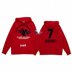 Kevin Durant 2021 NBA All-Star-Spiel X HBCU-Kollektion Clark-Atlanta Universität Schüler Rot Hoodie Mantra Pullover