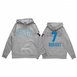 Kevin Durant 2021 NBA All-Star-Spiel X HBCU-Sammlung Spelman College-Schüler grau Hoodie Mantra Pullover