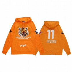 Kyrie Irving 2021 NBA All-Star-Spiel X HBCU-Sammlung Grambling Universität Schüler Orange Hoodie Mantra Pullover