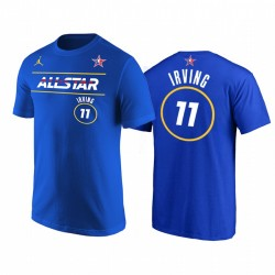2021 All-Star & 11 Kyrie Irving Starter Name Number Royal T-Shirt