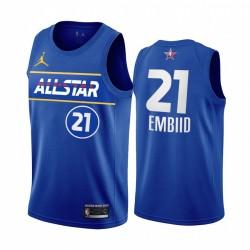 2021 All-Star Joel Embiid Trikot Blue Eastern Conference 76ers Uniform