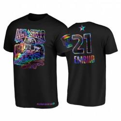 2021 All-Star Joel Embiid HBCU Spirit Irisierende holographische Schwarz-T-Shirt & 21