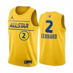 2021 All-Star & 2 Kawhi Leonard Gold Western Conference Trikot Clippers
