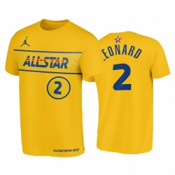 2021 All-Star & 2 Kawhi Leonard Western Conference Clippers Gold T-Shirt