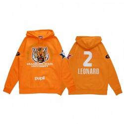 Kawhi Leonard 2021 NBA All-Star-Spiel x HBCU-Sammlung Grambling Universität Schüler Orange Hoodie Mantra Pullover