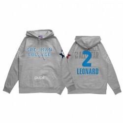 Kawhi Leonard 2021 NBA All-Star-Spiel X HBCU-Sammlung Spelman College-Schüler grau Hoodie Mantra-Pullover