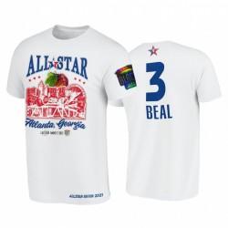2021 All-Star Bradley Bradr Support Schwarz Colleges HBCU Spirit Weiß T-Shirt & 3