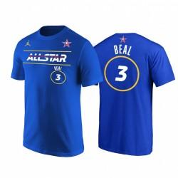 2021 All-Star & 3 Bradley Becher Vorname Number Royal T-Shirt