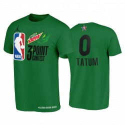 Jayson Tatum MTN Dew 3-Punkt 2021 All-Star-östliche grüne Celtics-T-Stück