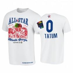 2021 All-Star Jayson Tatum Support Schwarz Colleges HBCU Spirit Weiß T-Shirt & 0