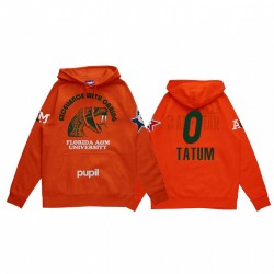 Jayson Tatum 2021 NBA All-Star-Spiel X HBCU-Sammlung Florida A & M-Universität Schüler Orange Hoodie Mantra Pullover