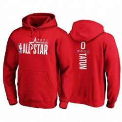 2021 All-Star & 0 Jayson Tatum Eastern Reserven Pullover Rot Hoodie