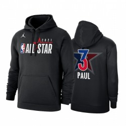 2021 All-Star Chris Paul & 3 Western Conference Official Logo Schwarz Hoodie Pullover