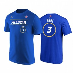 2021 All-Star & 3 Chris Paul Western Conference Suns Royal T-Shirt