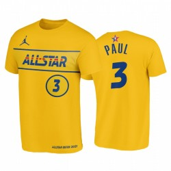 2021 All-Star & 3 Chris Paul Western Conference Suns Gold T-Shirt