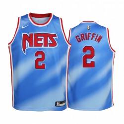 Brooklyn Nets Blake Griffin 2021 Classic Edition Blue Jugend Trikot & 2