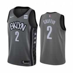 Blake Griffin & 2 Brooklyn Nets 2020-21 Graue Anweisung Edition Trikot