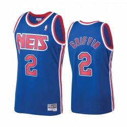 Blake Griffin & 2 Brooklyn Nets Hardwood Classics Trikot Blue