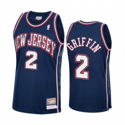 Blake Griffin & 2 Brooklyn Nets Hardwood Classics Trikot Navy