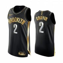 Brooklyn Nets Blake Griffin Schwarz Golden Edition Authentic Trikot 2021