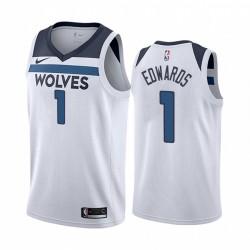 Anthony Edwards Minnesota Timberwolves 2020-21 WEIß Association Trikot 2020 NBA Draft
