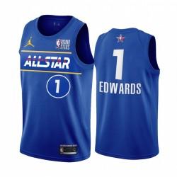 Anthony Edwards USA-Team 2021 steigende Sterne Trikot Blue All-Star-Timberwolves