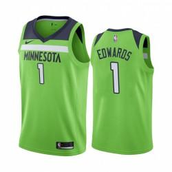 Anthony Edwards Minnesota Timberwolves 2020-21 Grüner Anweisung Trikot 2020 NBA Draft