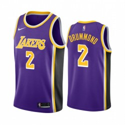 Andre Drummond Los Angeles Lakers & 2 Purple Anweisung Edition Trikot