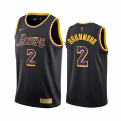 Andre Drummond Los Angeles Lakers 2021 Verdienste Ausgabe Schwarz & 2 Trikot Swingman