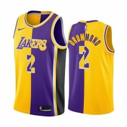 Los Angeles Lakers Andre Drummond Split Edition Gold Purple Trikot 2021 Handel