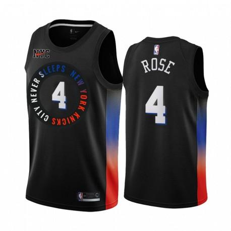 Derrick Rose New York Knicks 2020-21 Schwarz City Edition Trikot