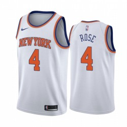 Derrick Rose New York Knicks 2020-21 Weiß Association Edition Trikot