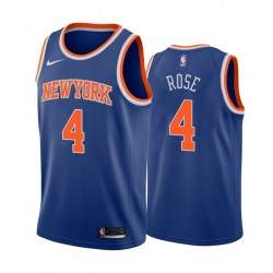 Derrick Rose New York Knicks 2020-21 Blaue Icon Edition Trikot