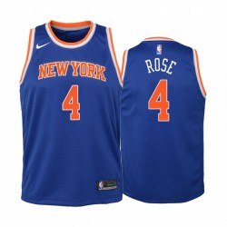 New York Knicks Derrick Rose 2020-21 Symbol Edition Blue Jugend Trikot & 4