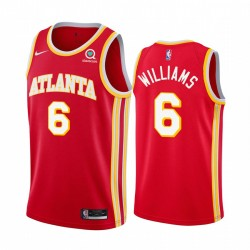 Lou Williams Atlanta Hawks 2021 Icon Edition Rot & 6 Trikot Swingman