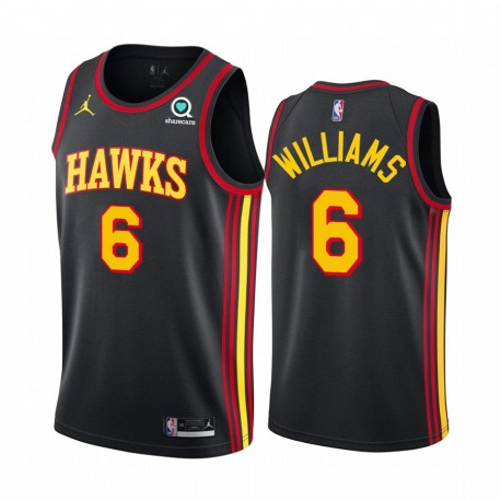 Lou Williams Atlanta Hawks 2021 Statement Edition Schwarz & 6 Trikot Swingman