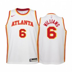 Atlanta Hawks Lou Williams 2021 Association Edition WEIß Jugend Trikot Swingman & 6