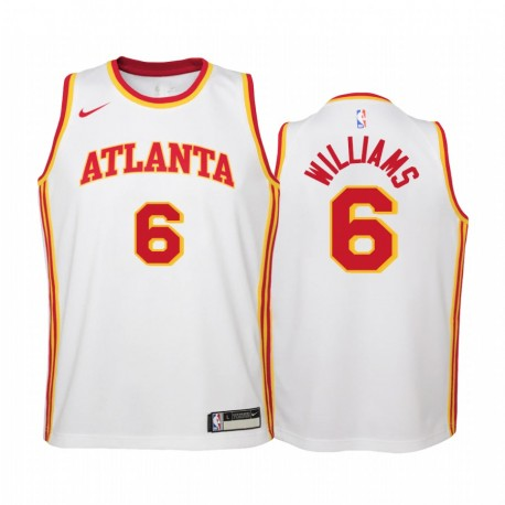 Atlanta Hawks Lou Williams 2021 Association Edition WEIß Jugend Trikot Swingman & 6
