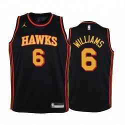 Atlanta Hawks Lou Williams 2021 Statement Edition Schwarz Jugend Trikot Swingman & 6