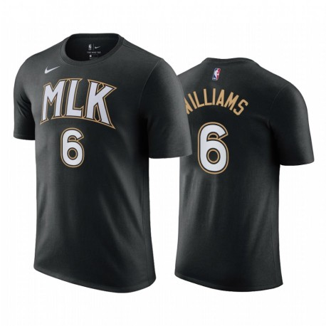 Lou Williams Hawks & 6 City Edition Schwarz T-Shirt 2021 Handel