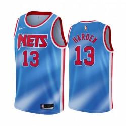 James Harden Brooklyn Nets 2021 Hardwood Classics Blue & 13 Trikot