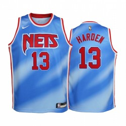 Brooklyn Nets James Harden 2020-21 Classic Edition Blue Youth Trikot & 13